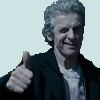 "capriuni: The 12th Doctor Who, winking and giving a ""thumbs up"" (Thumbs up)"