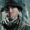 tricksterquinn: Band of Brothers: Sad-looking Speirs in D-Day camo, text: :( (Poor you.)