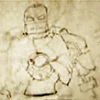 gumbie_cat: sketch of the original iron man armour (built this thing in a cave!)