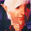 wundagore: Fenris from Dragon Age II smiling shyly. (bioware ☆ wolf & I)