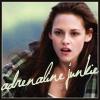 tiferet: Bella Swan riding recklessly on her motorbike. Caption: adrenaline junkie (Bella is an adrenaline junkie.)