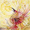 avia: A beautiful artistic phoenix raising their head to the sun. (phoenix of rebirth)