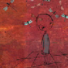 quinara: Little cartoon girl from the Devics' Distant Radio EP cover. (Devics Distant Radio)