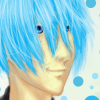 plures: a young man with olive skin, freckles & blue hair. (yavari - me)