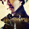 kouredios: BBC's Sherlock, with the battle-of-wits table superimposed over his coat &hearts (Sherlock)