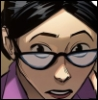 delphi: Comic panel of Miss Pauling peering over her glasses. (miss pauling)