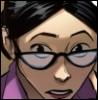 delphi: Comic panel of Miss Pauling peering over her glasses. (miss pauling)