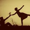 romancenovelx: silhouette woman taking flower (default)