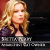 "automaticdoor: Carefully recreated screenshot of Britta from Community ep 3x08 captioned ""Britta Perry, Anarchist Cat Owner"" (Default)"