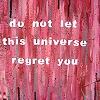 yavari: (do not let this universe regret you)