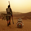 muccamukk: Rey and BB-8 walking over a dune. (SW: Desert Walker)
