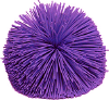 kshandra: A purple Koosh ball (the latex pompom balls that were popularized in the early 90s by Rosie O'Donnell) (PurpleKoosh)