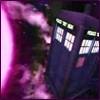 kshandra: The TARDIS to the right of a purple sun (TARDIS)