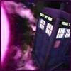 kshandra: The TARDIS to the right of a purple sun (TARDIS)