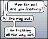 xtina: (freaking out, going mad)