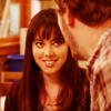 foursweatervests: Parks and Rec, April smiling because of Andy (You make me smile | Parks and rec)