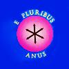 thesisorbust: E PLURIBUS ANUS (buttflag) (comm - e pluribus anus)