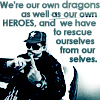 thesisorbust: text: we're our own dragons as well as our own heroes, and we have to rescue ourselves from ourselves (gen - dragons and heroes)