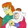 rosefox: A comic of a man holding a baby and looking stunned. (baby-wtf)