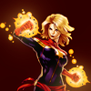 nenya_kanadka: Captain Marvel with glowing hands (Marvel Captain Marvel)