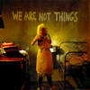 "deathbyshinies: Graffiti from 'Mad Max: Fury Road' (2015) ""We Are Not Things"" (Not Things)"