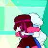 sotto_voce: Ruby and Sapphire holding each other close ([steven universe] smoochies)