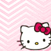 veleda_k: Hello Kitty's face on a pink background (Hello Kitty pink)