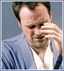 bironic: rodney mckay making a disgusted or resigned face about to do a face-palm (rodney facepalm)
