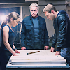 alyse: terminator genisys - Pops, Sarah and Kyle around a table, planning (tg - family)