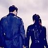 alyse: terminator genisys - head shot of Sarah and Kyle from behind (tg - sarah kyle behind)