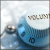 elaineofshalott: A white volume knob. (volume)