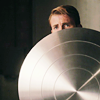musesfool: Steve Rogers hiding behind his shield (shelter from the storm)
