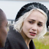 theleaveswant: Tuppence Middleton as Riley Gunnarsdottir in Sense8; at cemetary crying, looking at Capheus (Aml Ameen) at edge of frame (Riley no goodbye)