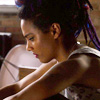 theleaveswant: Freema Agyeman as Amanita in Sense8; in profile leaning forward looking sad/worried/scaredsad (Amanita they're never going to leave us)