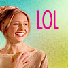"frayadjacent: Buffy laughing, text says ""LOL"" (!Hee)"