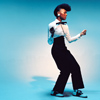 sasha_feather: Janelle Monae against a blue background (Janelle monae)