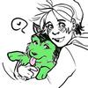 scheherezhad: fanart of Bart hugging Siberian Husky!Gar (Default)