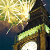 alwayswondered: Fireworks going off next to Big Ben. (Happy New Year)