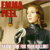 solarbird: I made this! From a photo. (emma peel)