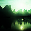 tewaters: Chinese river and mountain scene (river)