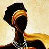 nenya_kanadka: art of African woman in gold scarf (@ art - woman in gold)