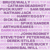 darkhavens: text icon: 15 m/m pairings in dk purple, with paler txt darkhavens and even paler txt multifandom ho. (george the douse)