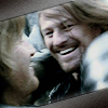 muccamukk: Boromir and Faramir grinning and hugging. (LotR: Squee!)