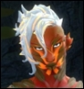 saintmonster: A digital image of a red plant like person glowing orange in places. (sylvari, gw2, salad)