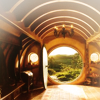 nenya_kanadka: shot of Bag End front door from inside (LOTR Bag End)