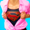 goodbyebird: Supergirl: Kara rips open her pink shirt, revealing the S underneath. (Supergirl)