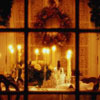 thebratqueen: Wreath and candles through a window (Seasonal - Yule)