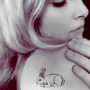 mortalcity: A blonde girl with a rabbit tattoo on her shoulder. (WG | a rabbit hearted girl)