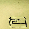 idellaphod: drawing of a backspace button on a computer (backspace)