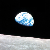 extrapenguin: The famous Earthrise photograph, cropped (moon)